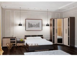 Набор мебели для спальни Эдем - 2 (венге) с угловым шкафом