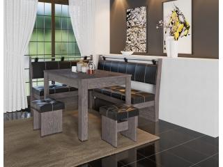 Кухонный уголок Остин (Венге/Чёрный)