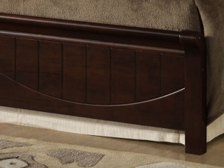 Кровать I-3655 венге из массива гевеи