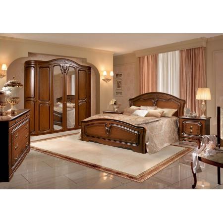 Спальня Валерия 6Д орех гнутые двери